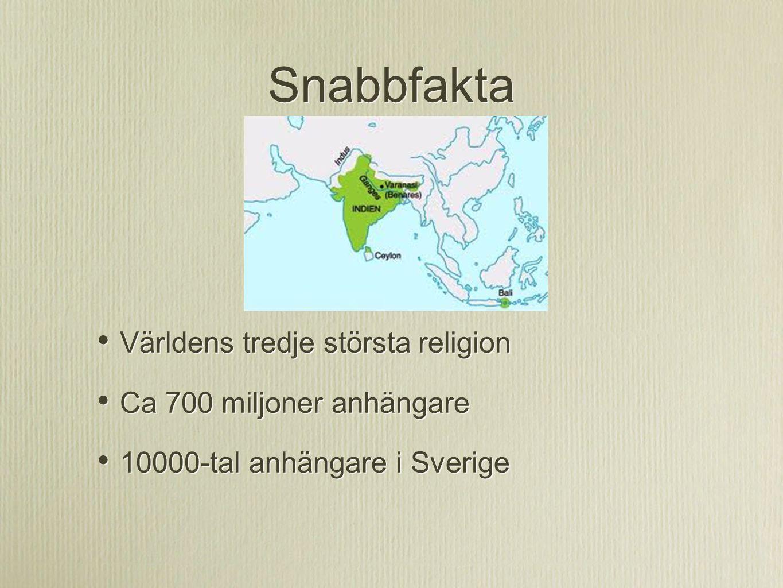 Snabbfakta Världens tredje största religion Ca 700 miljoner anhängare 10000-tal anhängare i Sverige Världens tredje största religion Ca 700 miljoner a