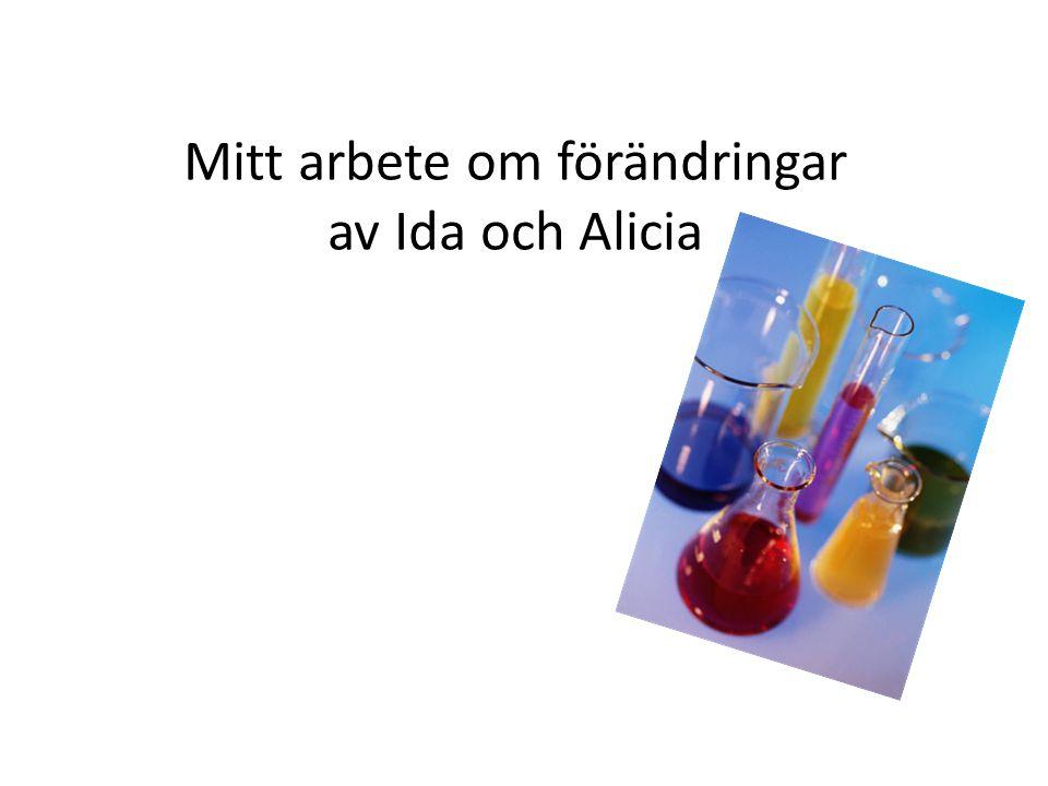 Mitt arbete om förändringar av Ida och Alicia