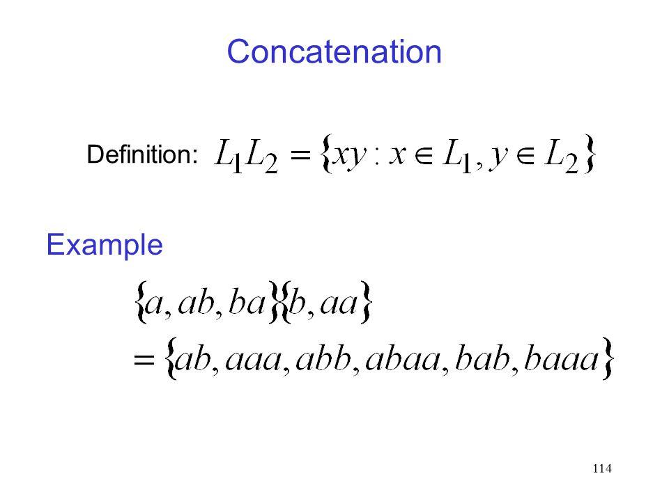 114 Concatenation Definition: Example