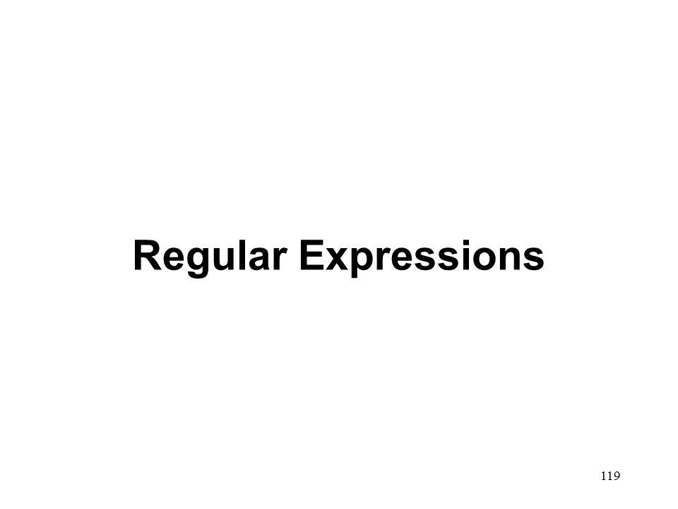 119 Regular Expressions