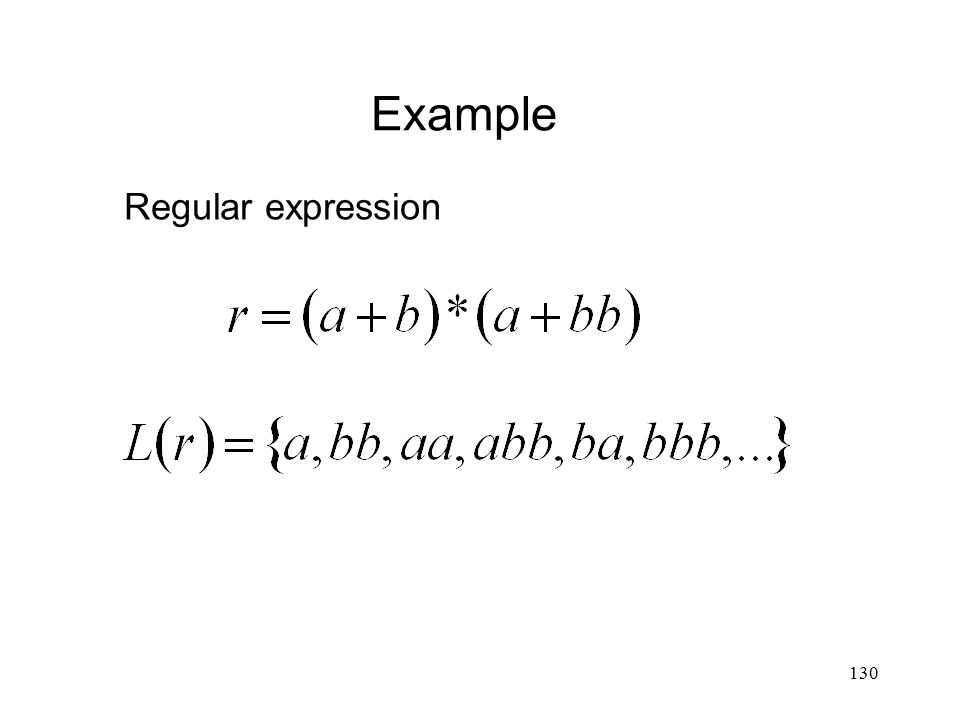 130 Example Regular expression
