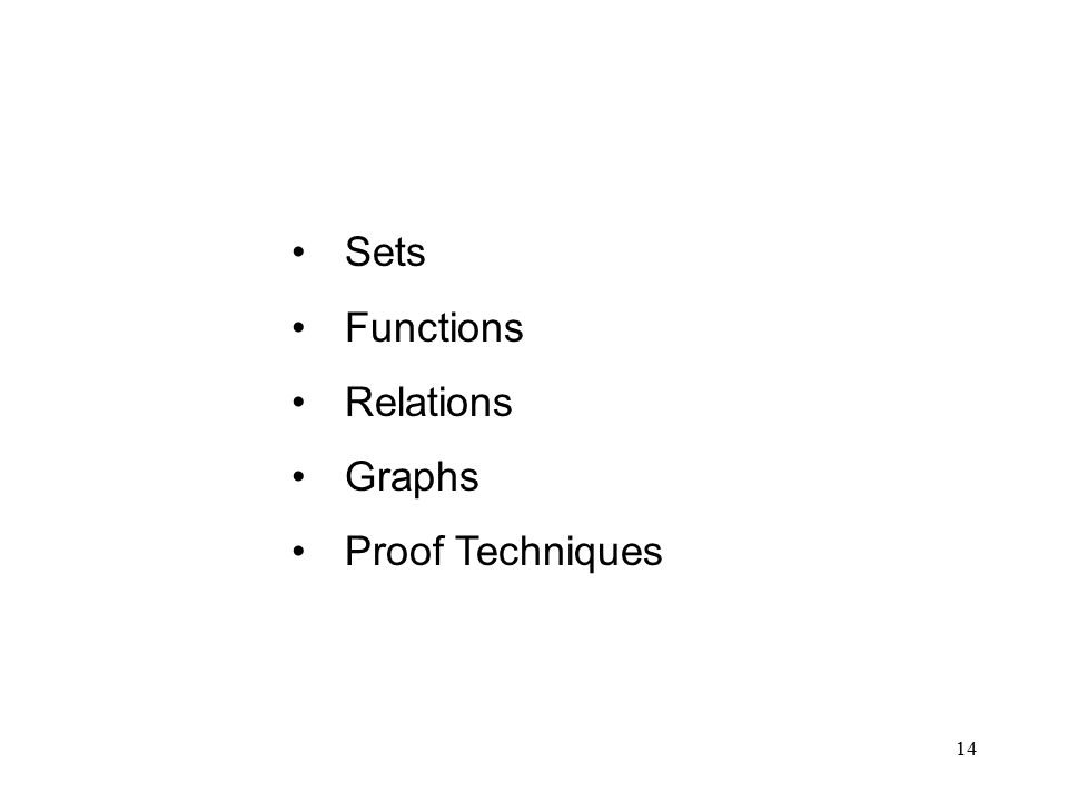 14 Sets Functions Relations Graphs Proof Techniques