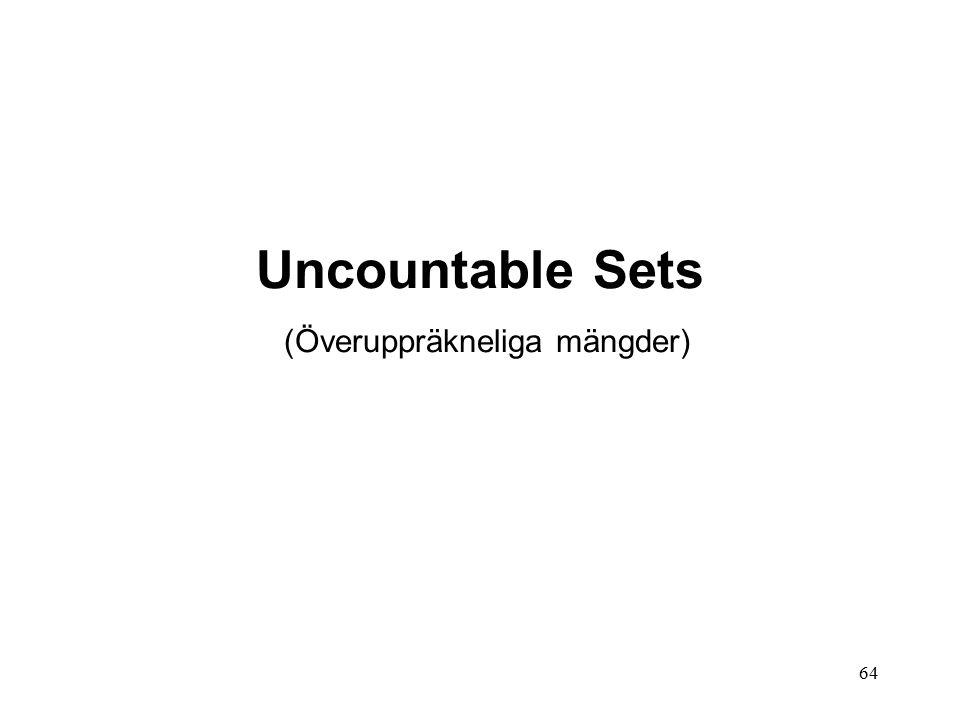 64 Uncountable Sets (Överuppräkneliga mängder)