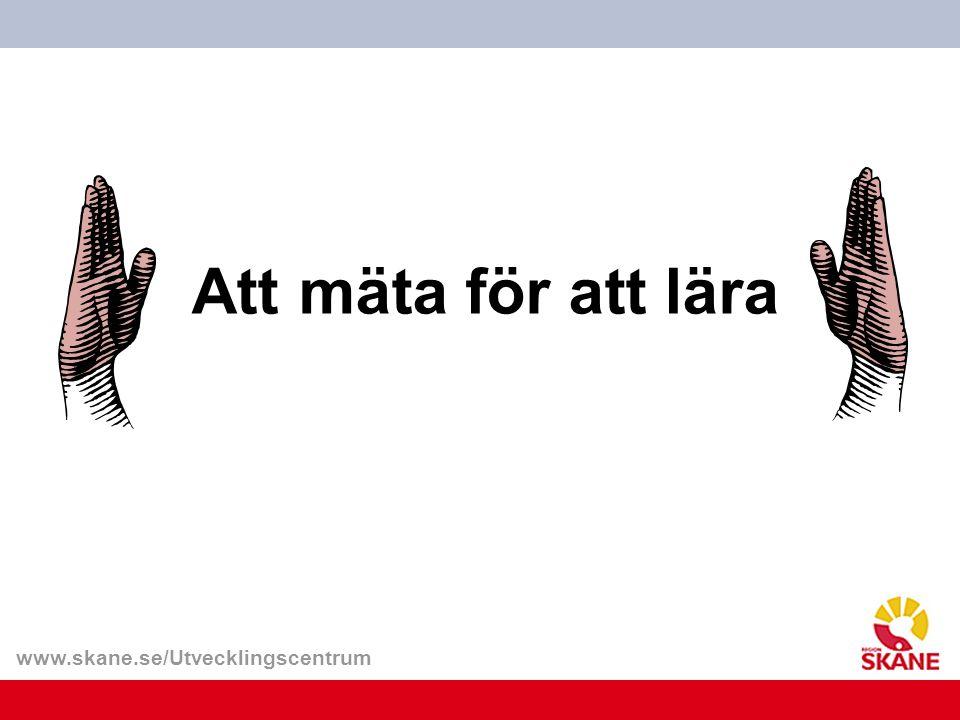 www.skane.se/Utvecklingscentrum Att mäta för att lära