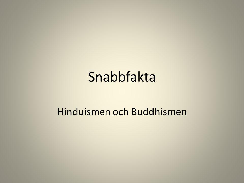 Snabbfakta Hinduismen och Buddhismen
