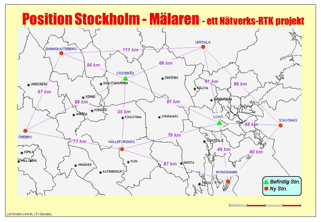 Lantmäteriverket, LF-Geodesi, Position Stockholm - Mälaren - ett Nätverks-RTK projekt