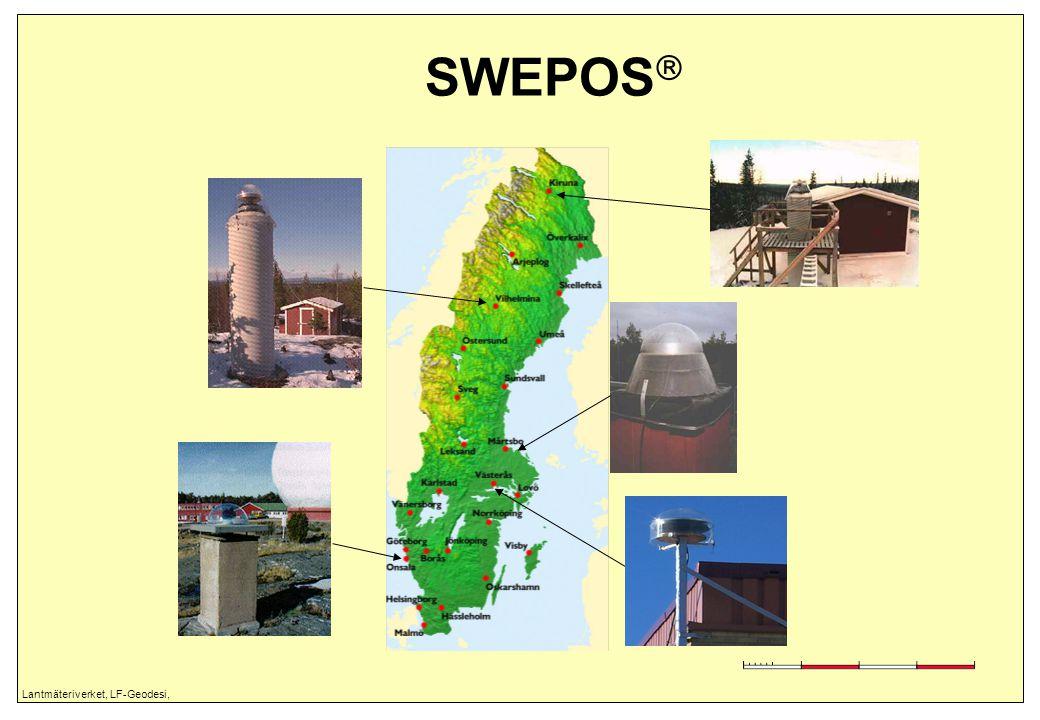 Lantmäteriverket, LF-Geodesi, SWEPOS  – uppbyggnad