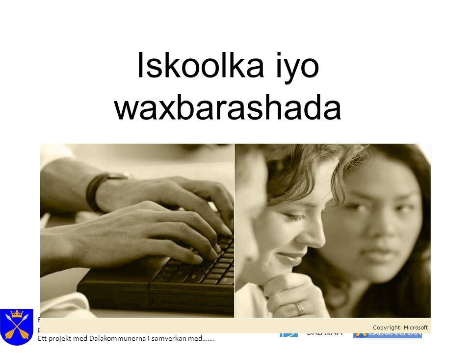 Effektivare samhälls- och hälsokommunikation för nyanlända på hemspråk i Dalarna. Ett projekt med Dalakommunerna i samverkan med……. Iskoolka iyo waxba