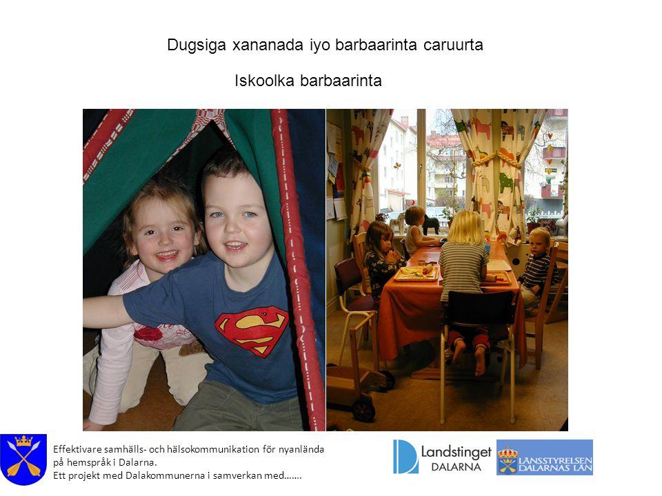 Effektivare samhälls- och hälsokommunikation för nyanlända på hemspråk i Dalarna. Ett projekt med Dalakommunerna i samverkan med……. Dugsiga xananada i