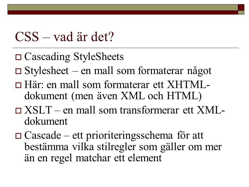 CSS – vad är det.