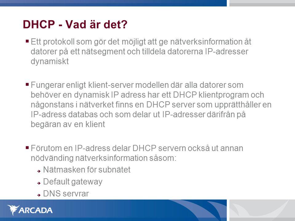 DHCP - Vad är det.