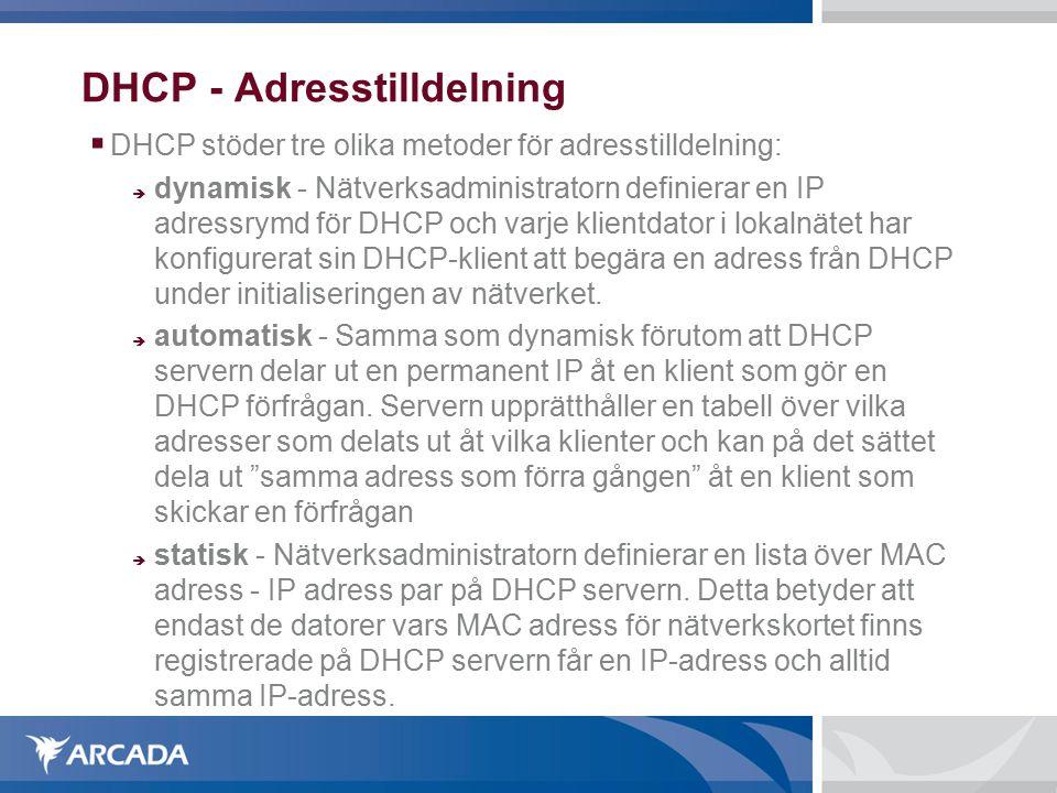 Mobile IPv4: Tunnling  Vidaredistribuering av IP paket från HA till CoA görs i form av tunnling  De ursprunglinga IP-paketen som kommit från CN kapslas in i datafältet av ett nytt IP-paket, och hålls på så sätt oförändrade.