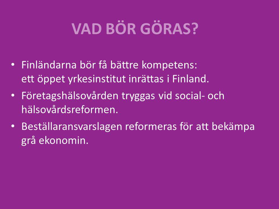 Finländarna bör få bättre kompetens: ett öppet yrkesinstitut inrättas i Finland.