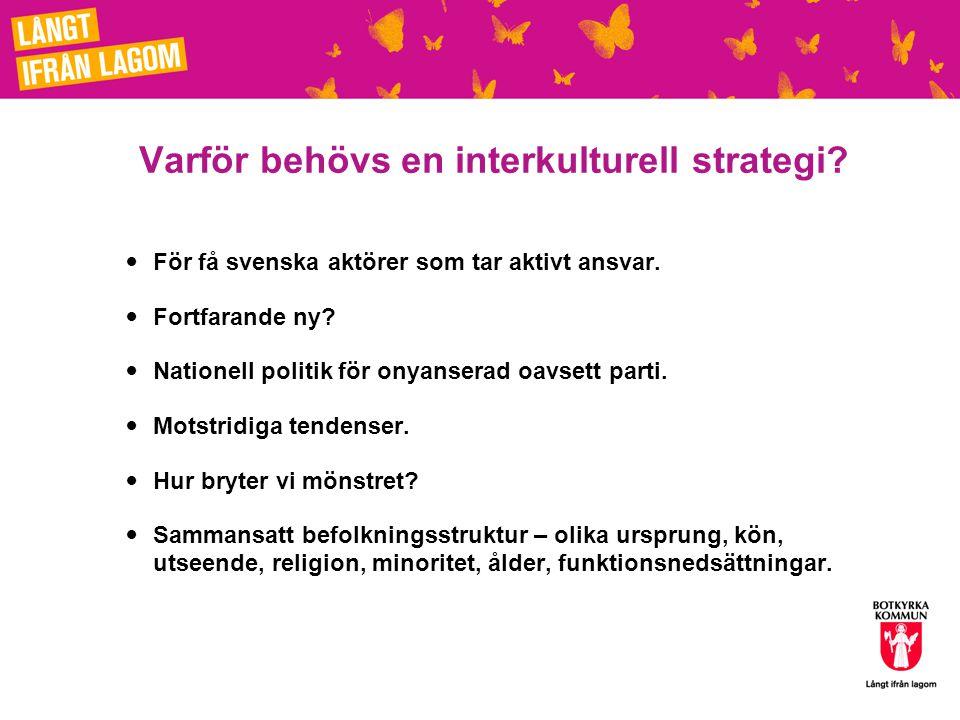Nationell påverkan: Unesco LUCS motor Botkyrka, Malmö, Eskilstuna och Borlänge.