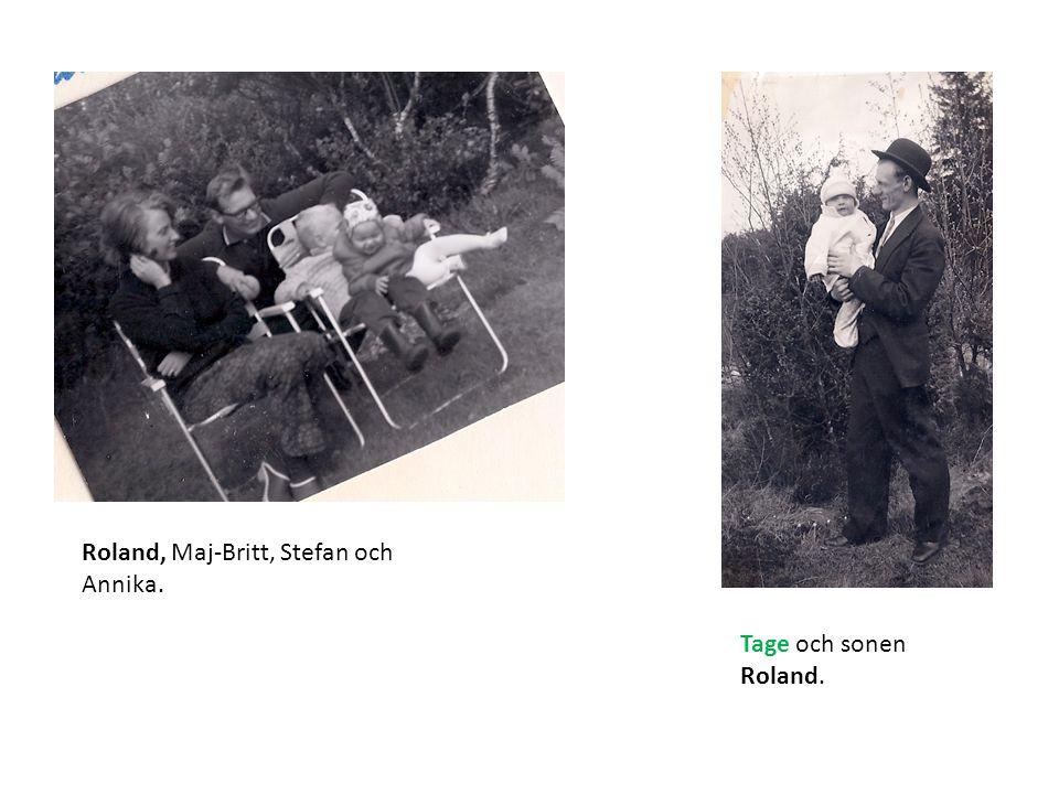 Tage och sonen Roland. Roland, Maj-Britt, Stefan och Annika.