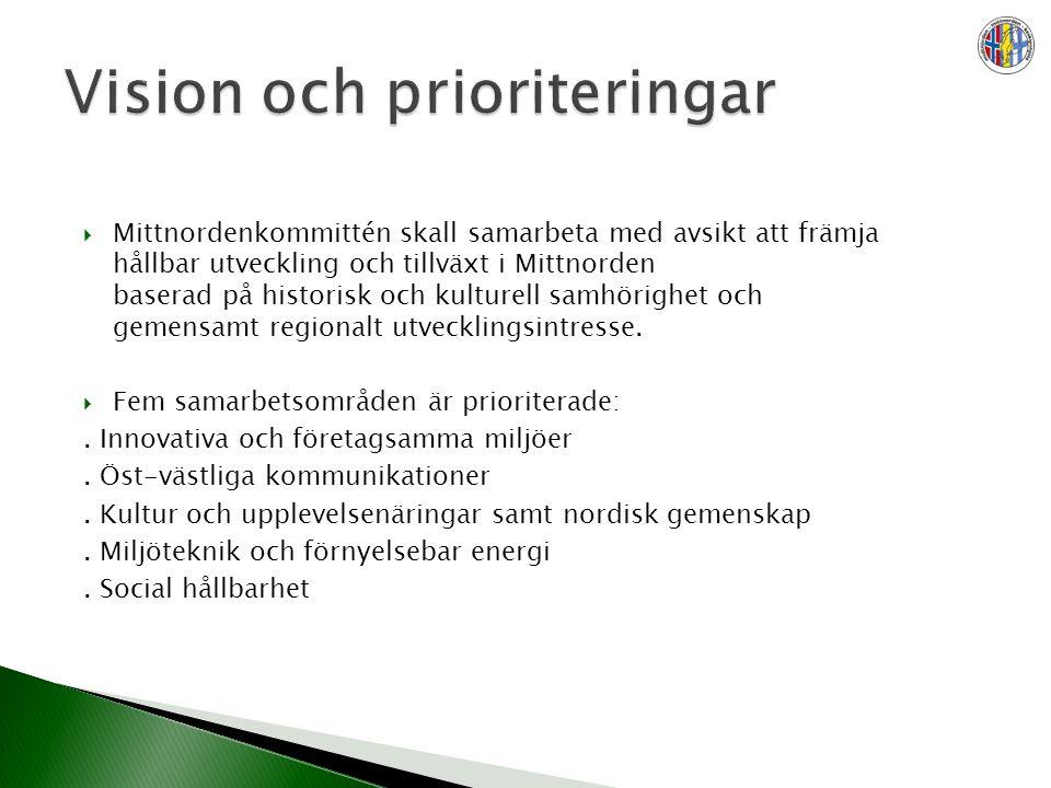  Mittnordenkommittén skall samarbeta med avsikt att främja hållbar utveckling och tillväxt i Mittnorden baserad på historisk och kulturell samhörighet och gemensamt regionalt utvecklingsintresse.