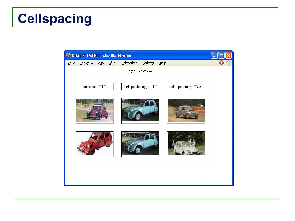 Cellspacing