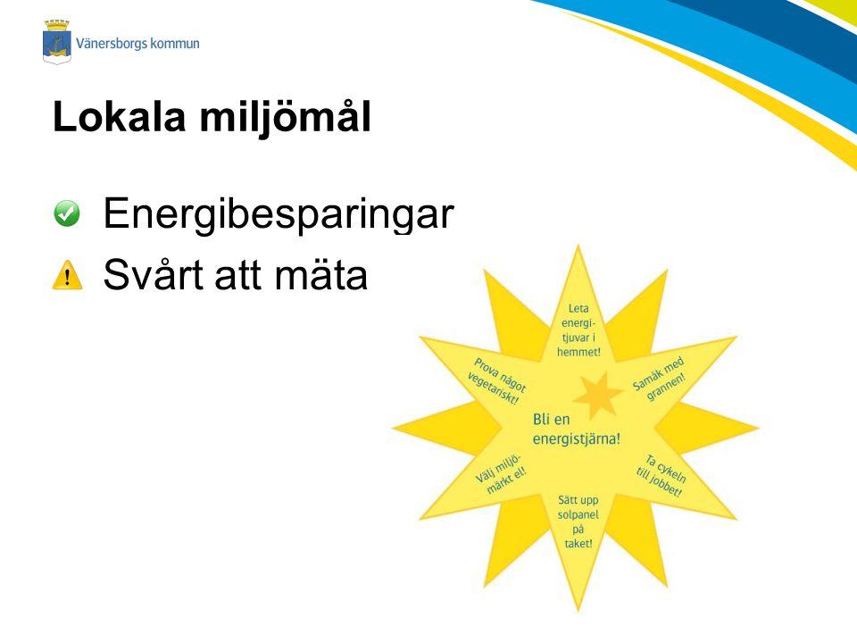 Lokala miljömål Energibesparingar Svårt att mäta