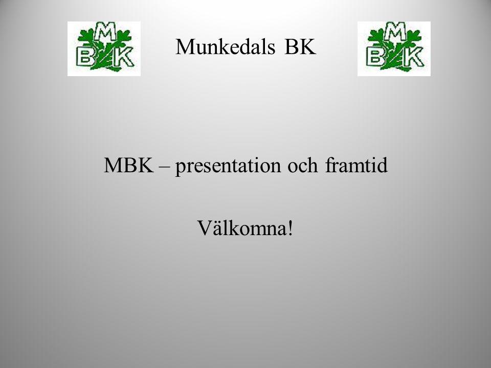 MBK – presentation och framtid Välkomna! Munkedals BK