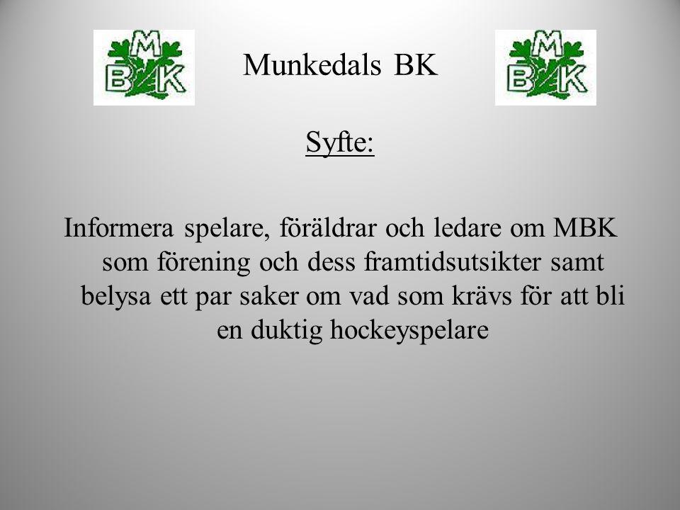 Syfte: Informera spelare, föräldrar och ledare om MBK som förening och dess framtidsutsikter samt belysa ett par saker om vad som krävs för att bli en