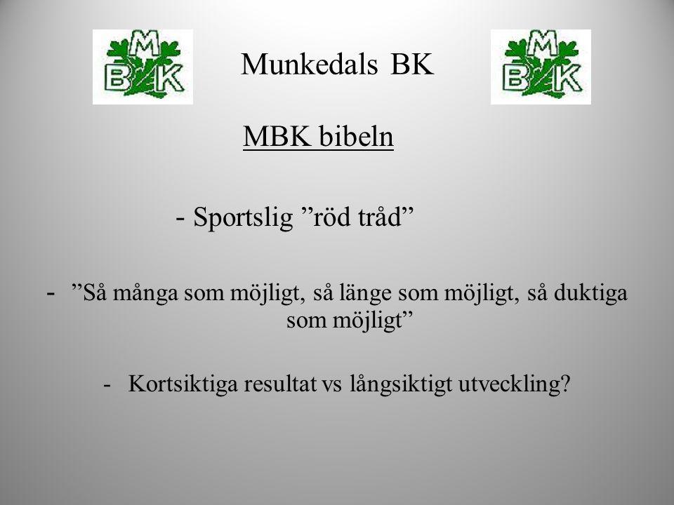 """MBK bibeln - Sportslig """"röd tråd"""" - """"Så många som möjligt, så länge som möjligt, så duktiga som möjligt"""" -Kortsiktiga resultat vs långsiktigt utveckli"""