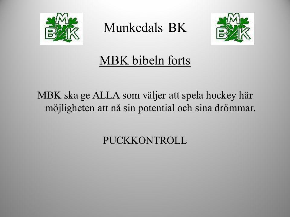 MBK bibeln forts MBK ska ge ALLA som väljer att spela hockey här möjligheten att nå sin potential och sina drömmar. PUCKKONTROLL Munkedals BK