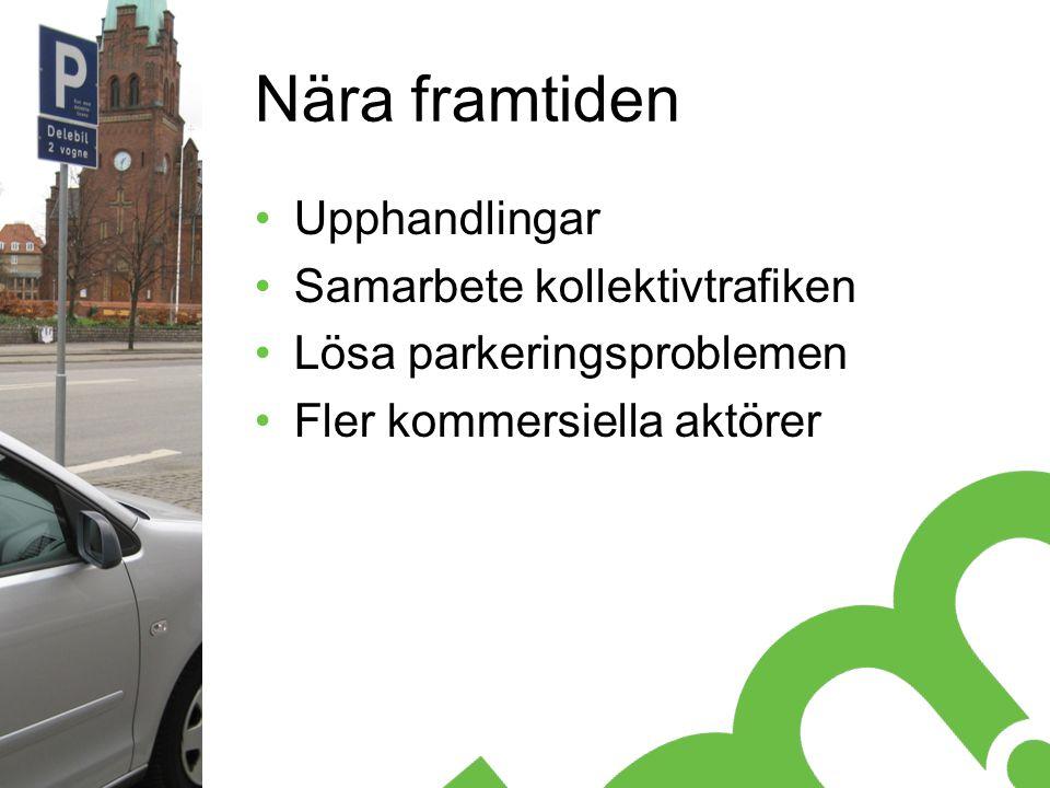Nära framtiden Upphandlingar Samarbete kollektivtrafiken Lösa parkeringsproblemen Fler kommersiella aktörer