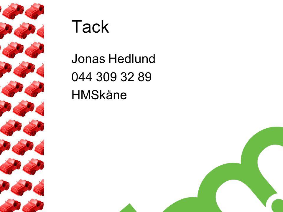 Tack Jonas Hedlund 044 309 32 89 HMSkåne
