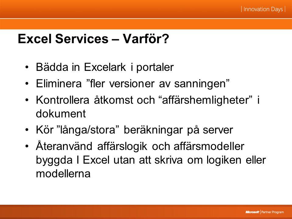 Excel Services – Varför.