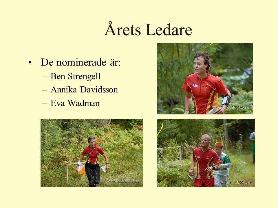 Årets Ledare De nominerade är: –Ben Strengell –Annika Davidsson –Eva Wadman