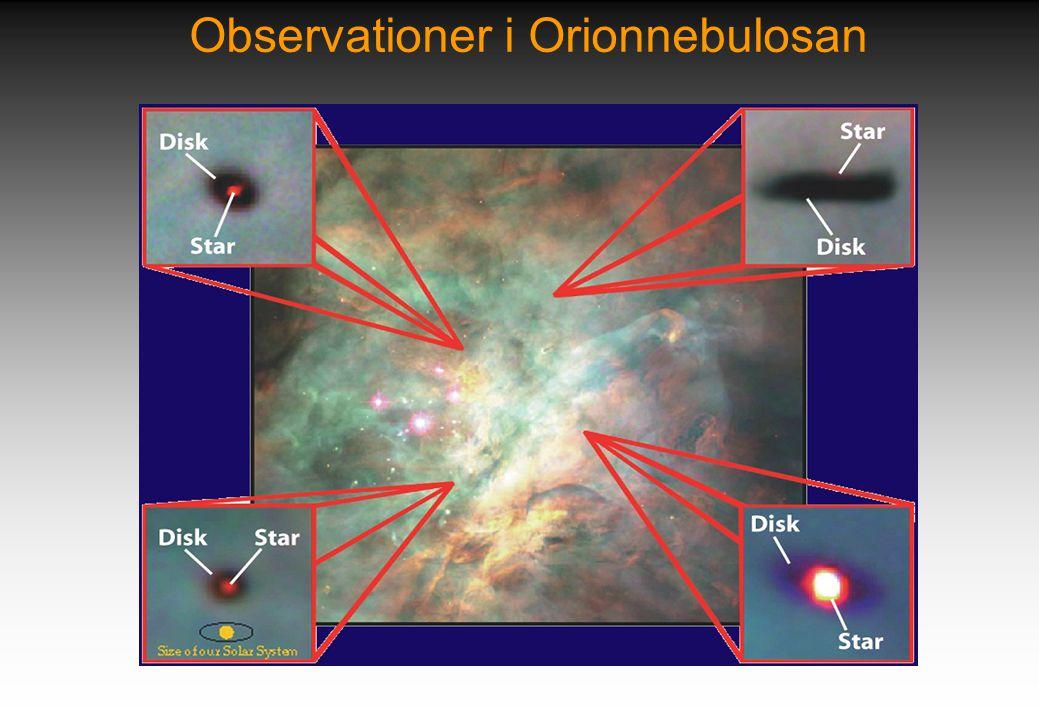 Observationer i Orionnebulosan