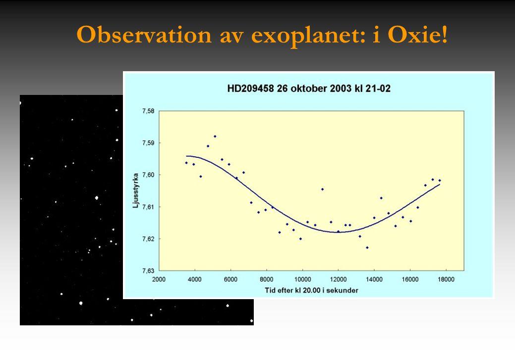 Observation av exoplanet: i Oxie!
