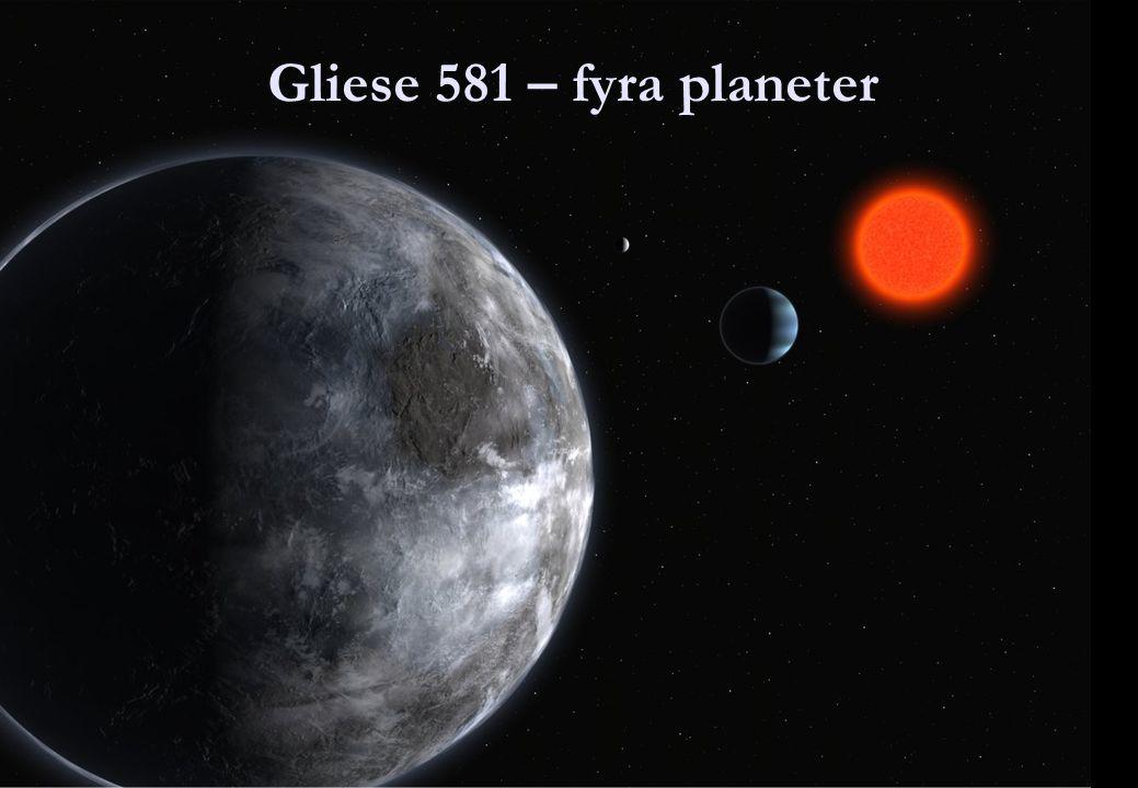 Några kända exo-planeter