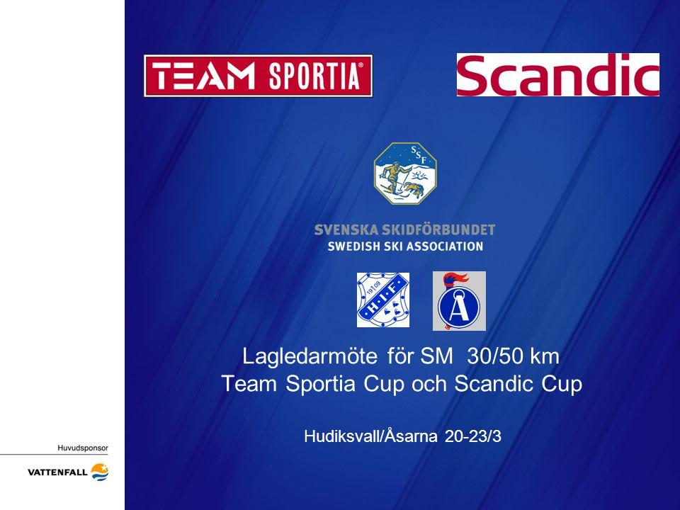 Lagledarmöte för SM 30/50 km Team Sportia Cup och Scandic Cup Hudiksvall/Åsarna 20-23/3