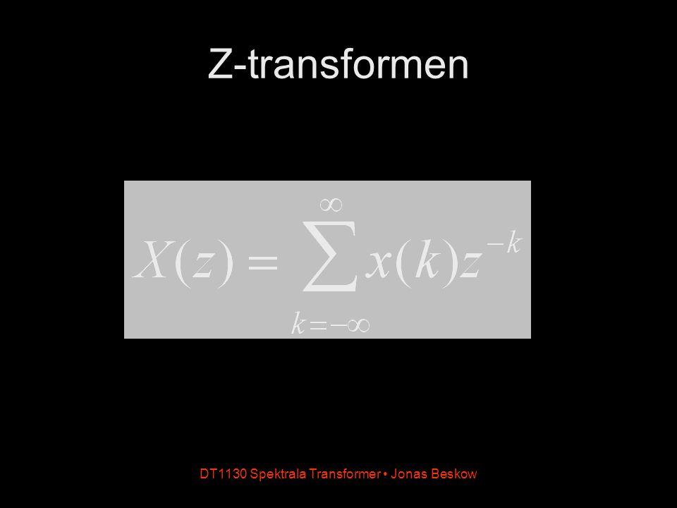 Z-transformen DT1130 Spektrala Transformer Jonas Beskow