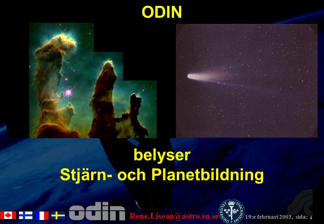 4 belyser Stjärn- och Planetbildning ODIN