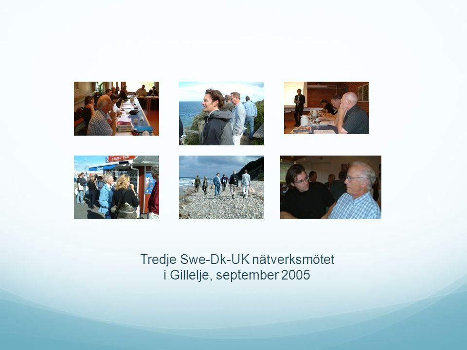 Tredje Swe-Dk-UK nätverksmötet i Gillelje, september 2005
