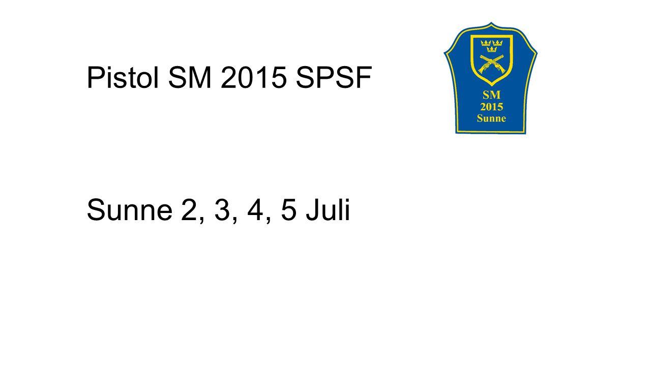 Pistol SM 2015 SPSF Sunne 2, 3, 4, 5 Juli