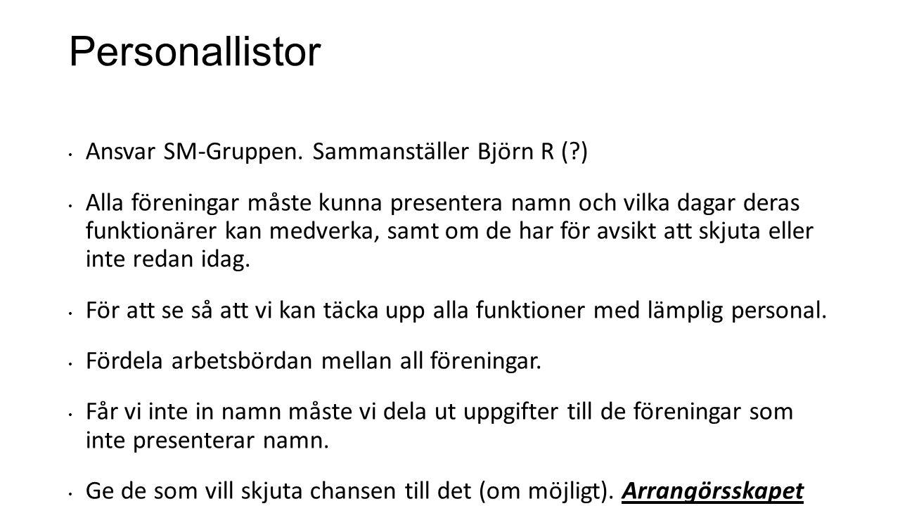 Personallistor Ansvar SM-Gruppen.