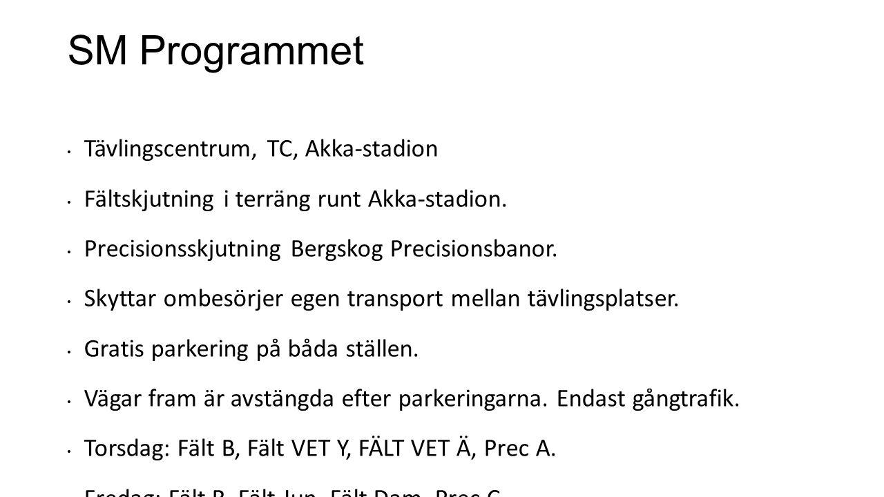 SM Programmet Tävlingscentrum, TC, Akka-stadion Fältskjutning i terräng runt Akka-stadion.