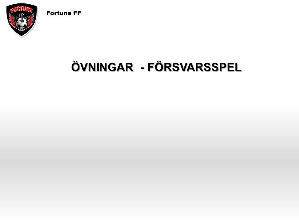Fortuna FF ÖVNINGAR - FÖRSVARSSPEL