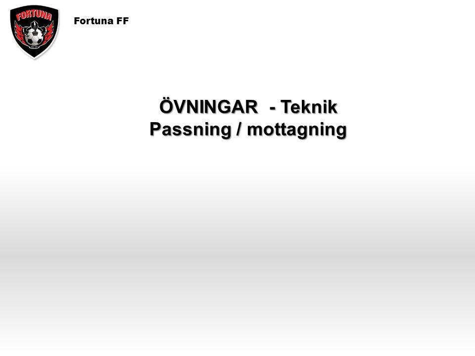 Fortuna FF ÖVNINGAR - Teknik Passning / mottagning