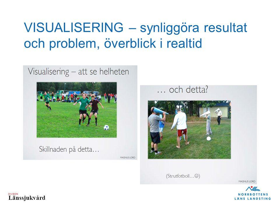 DIVISION Länssjukvård VISUALISERING – synliggöra resultat och problem, överblick i realtid