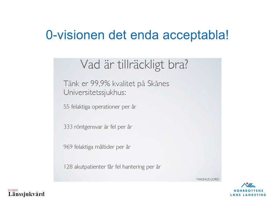 DIVISION Länssjukvård 0-visionen det enda acceptabla!