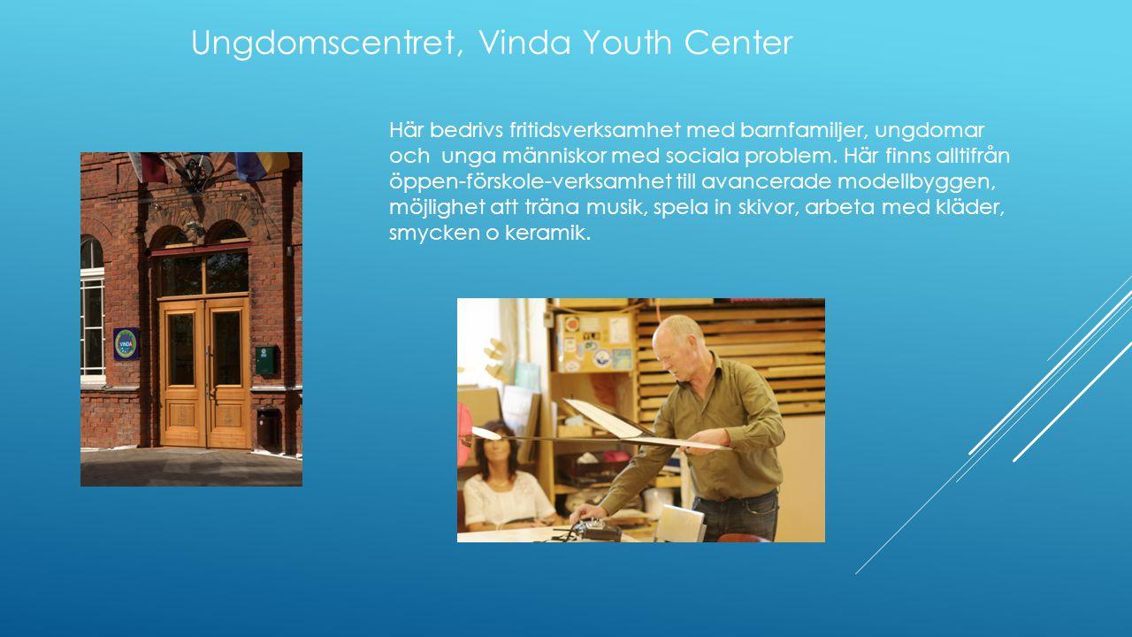 Här bedrivs fritidsverksamhet med barnfamiljer, ungdomar och unga människor med sociala problem.