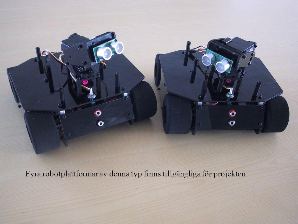 Fyra robotplattformar av denna typ finns tillgängliga för projekten