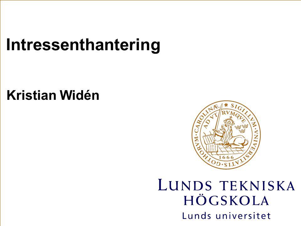Intressenthantering Kristian Widén