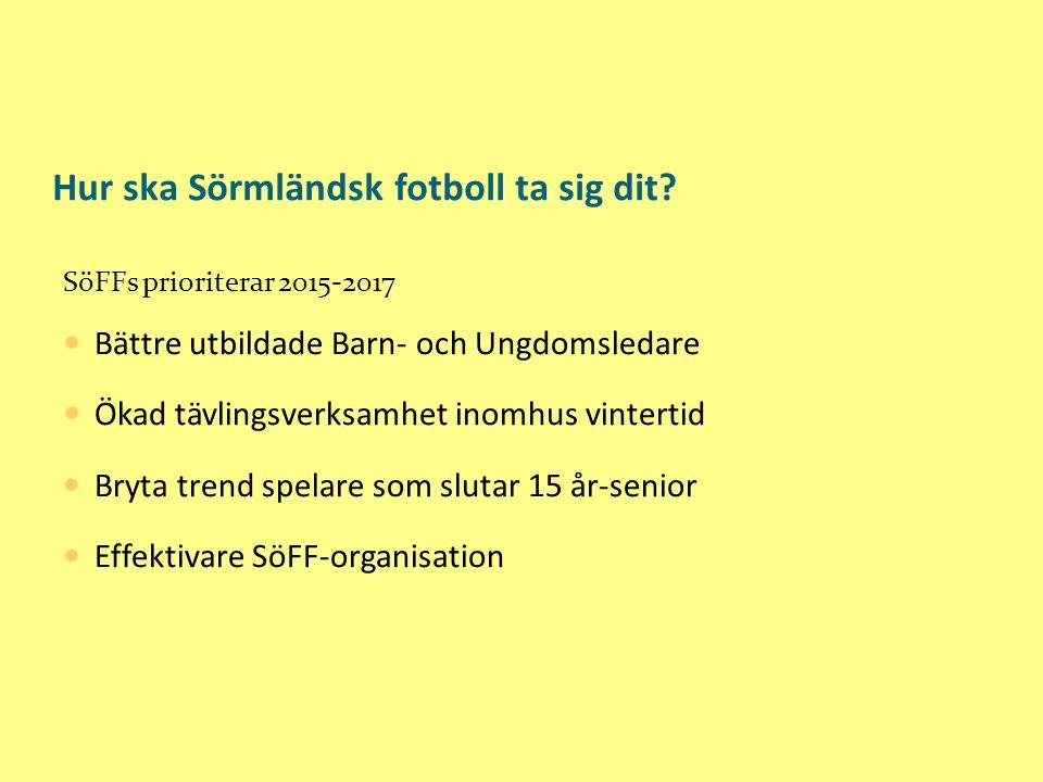 Hur ska Sörmländsk fotboll ta sig dit.