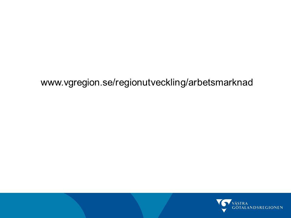 www.vgregion.se/regionutveckling/arbetsmarknad