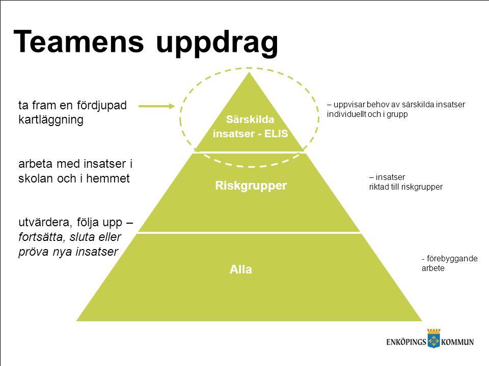 Alla Riskgrupper Särskilda insatser - ELIS (http://www.skl.se) ta fram en fördjupad kartläggning arbeta med insatser i skolan och i hemmet utvärdera,